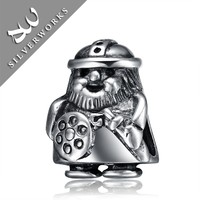 Good Quality soldier Shaped 925 Silver Jewelry Beads With Low Price Per Gram