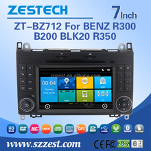 7inch touch screen car accessores for Mercedes-Benz R300 B200 BLK20 R350 with WINCE 6.0 3G WiFi OBDII DVR function