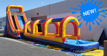 GUTEFUN Graduation and corporate party planning ideas pvc green crocodile inflatable sliding
