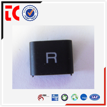 China OEM earphone accessory, High quality customize black painted zinc die cast square earphone shell
