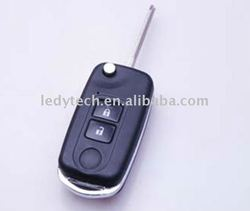 High quality toyota Yaris 2 buttons modified flip remote key blank ,car key casing &toyota car seat covers