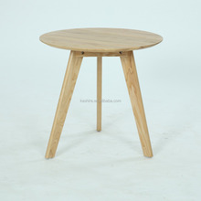 Round Top Side Table Solid Wood living room End table