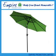 Outdoor Waterproof Professional led solar garden parasol/patio/umbrella