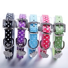 2015 Best Selling PU Leather dog chain Collar prices Fashion Pet Cat Dog Training Collar