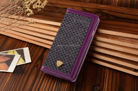 Purple colourful phone case, cell phone cover, contains PU border with fabric