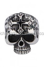 customized popular personality men's skull ring jewelry 316l stainless steel skull ring