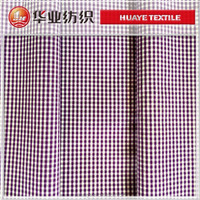 100 cotton narrow purple plaid fabric poplin fabric stock fabric for shirt
