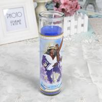 Classic VELA CRISTO NEGRO DE PRAGA Glass Religious Candle In Different Sizes wholesales