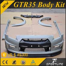 Carbon Fiber Material R35 GTR Car Body Kit for N issan