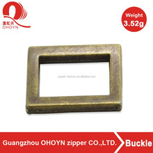 Brass small square metal side release buckle for handbag