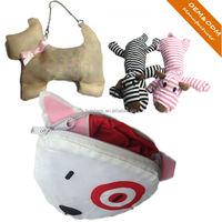 Factory custom cute animal foldable shopping bag/reusable folding bag