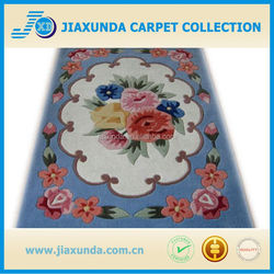 New flower design hand tufted wool wonderful carpet rug