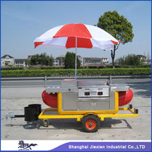 2015 Shanghai Jiexianl JX-HS230 mobile electric outside trailer/food trolley cart/food tricycle churroscoffee trucks for salsale