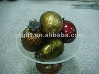 fulgurant wholesale glass fruit ornaments for home decor