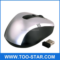 2.4G wireless Mouse with 5 botton Customized logo 2.4G Slim wireless cheap Mouse