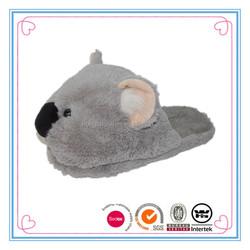 Women Lovely animal grey koala shaped winter slippers