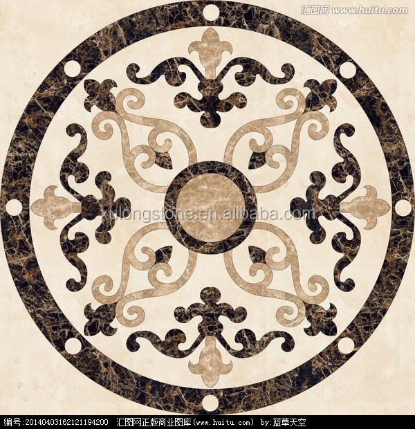 Ceramic Tile Floor Medallions Design And Wall Tile Medallions And