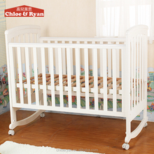 120*60cm White MDF Solid New Zealand Pine baby crib bassinet/hospital baby cot bed prices