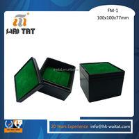 Outside black inside green Men Lady Women Watches Wooden Case Box
