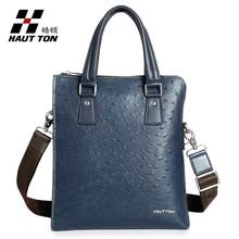 DB39 Hautton chinese brand Ostrich grain zipper bag men handbags
