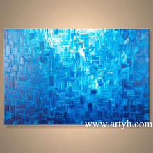 Wholesale Modern Blue Abstract Oil Painting and Home Accessories