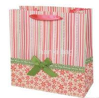 fashion shopping bag with ribbon handle