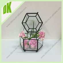 glass decoration clay garden balls decoration decorative crackle glass balls//wholesale geometric handicraft glass terrarium