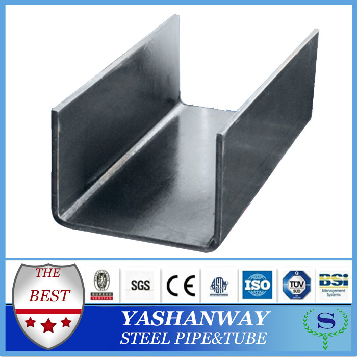Ysw u faisceau 100 x 50 x 5.0 mm acier laminé à froid canal de poids tableau
