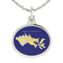 Fashion Jewelry 925 Silver Drexel University Dragons Charm Necklace Wholesale