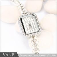 hot sale women bow pendant watch ladies clock pearl watch bracelet
