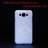 Good quality white blank 3D customer sublimation mobile phone case for samsung grand 3 7200 Free shipping