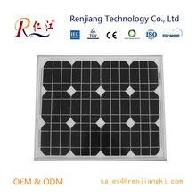 High Quality OEM 50W PV Mono Solar Panel