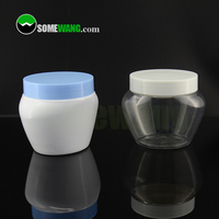 68mm neck size clear PET Jar with screw lid and inner seal for cosmetic cream packaging
