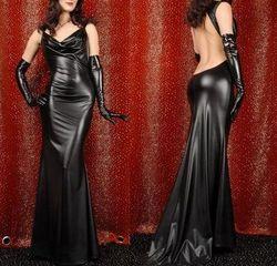 2015 New Style Fierce Wet Look Halloween latex rubber catsuit women