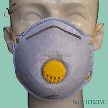 VIC821VC ce ffp1 and ffp2 activated carbon filter face mask with valve