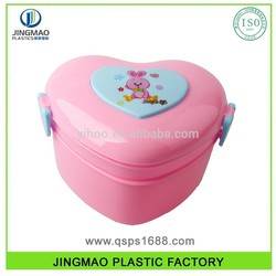 Plastic Hearted shaped Lunch Box large glass containers