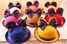 Lovely lady beach hat bowknot parent-child cap multi-color optional