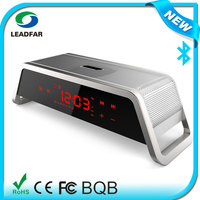 2.1 Multimedia Speaker with Bluetooth and Alarm Clock,Support TF SD Card USB Flash Drive,FM Radio with nfc