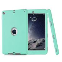 3 In 1 Pattern Protective Heavy Duty Hybrid Case for iPad Air 2 Cover with Screen Protector