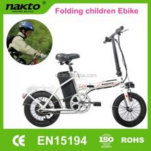 Naijiate pas cher 14 polegada pliage vélo électrique pour enfants