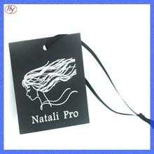 Manufactory custom black garment cardboard tag design