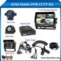 4ch dvr móvil con auto función de grabación 4ch dvr móvil