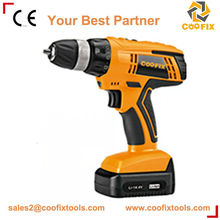 li-ion cordless drill 18v 37N/m 10mm double speed power tools
