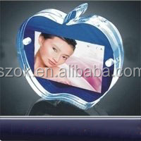 Apple shaped funny design clear acrylic photo frame