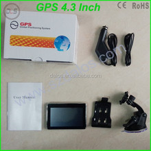 Portable 4.3 Inch Car Gps Navigator/ gps navigation With Sd Card Free Map