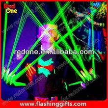 Guantes de fiesta con suministros verde/láser rojo rave decoraciones del partido