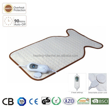 CE/GS/TUV Fast Heating 3 Settings 100W Fleece Physiotherapy Massage Back Pain Electric Heating Pad