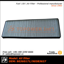 Car accessories active carbon air filter for Opel Astra/Vauxhall OEM 90360171 90383627