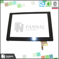1.44 to 27 inch accept customize made capacitive touch screen digitizer glass