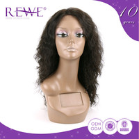 Formal Cost-Effective Hair Curly Kinky Curl Half Wig Gray